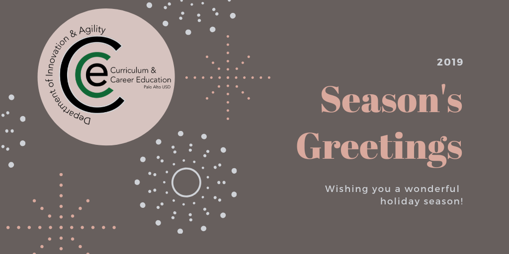 Season's Greetings from Department of Innovation and Agility