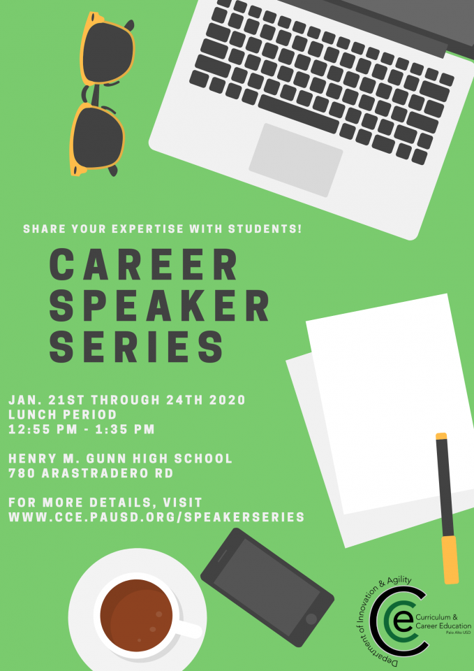 Gunn Career Speaker Series Flyer